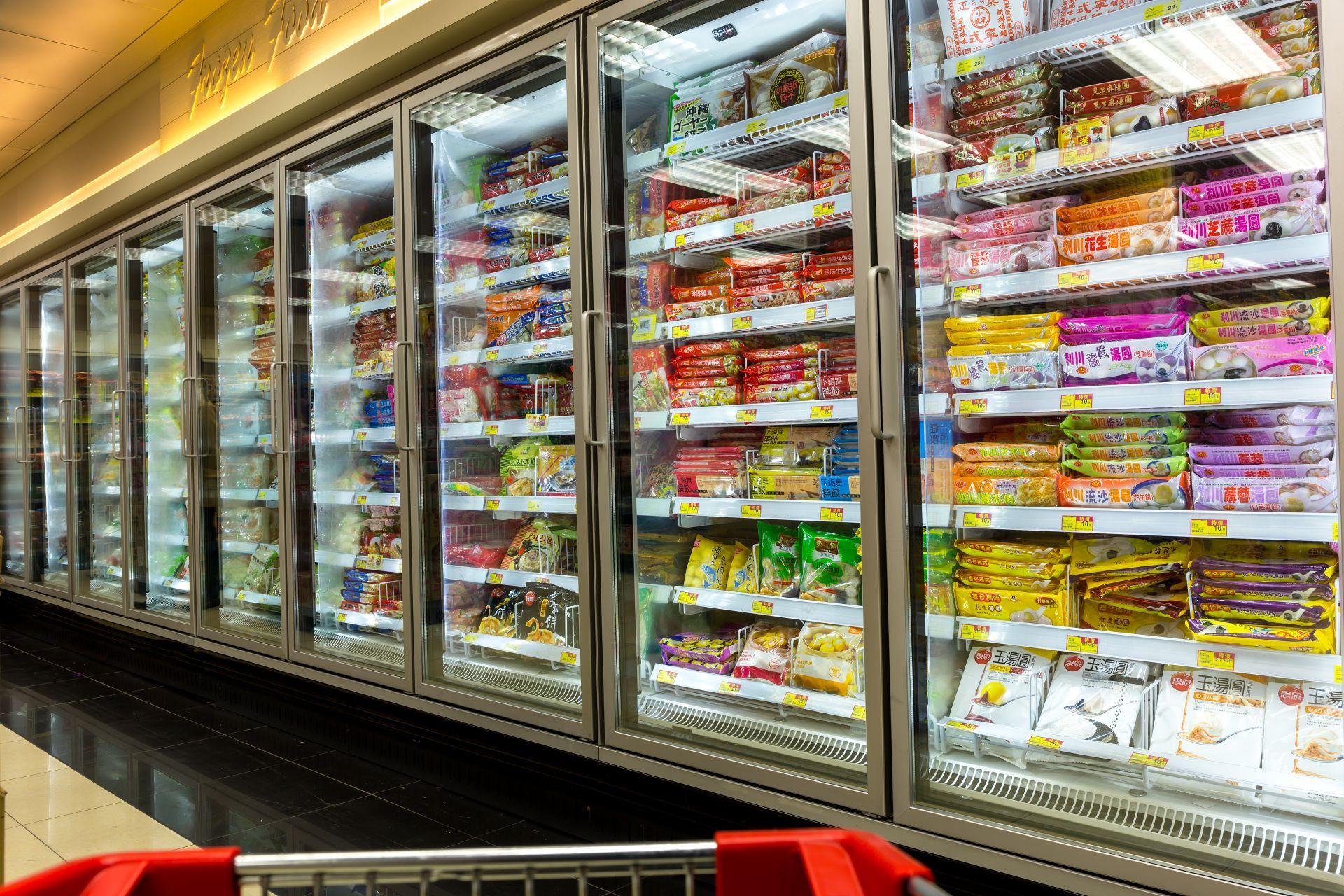 Élelmiszerbolt hűtőbútorok